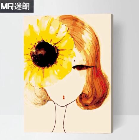【数字油画 人物卡通动漫数码手绘】--xuffffff-蘑菇