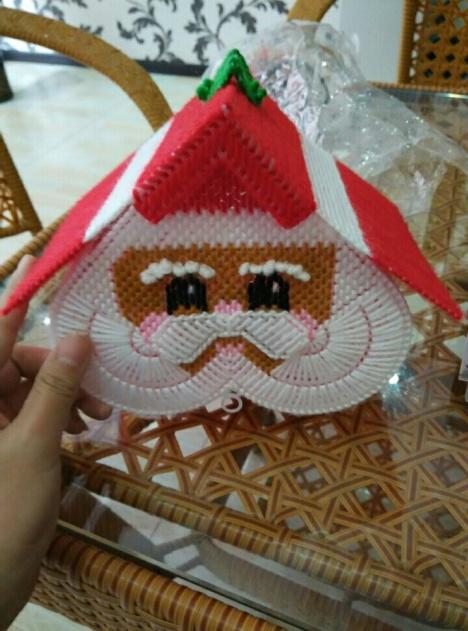 圣诞老人纸巾盒店主手工制作库存仅此一款