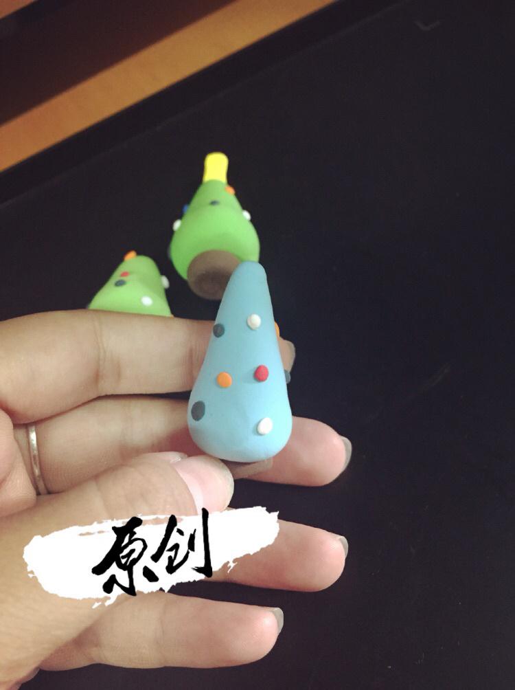 自己纯手工制作超轻粘土圣诞树