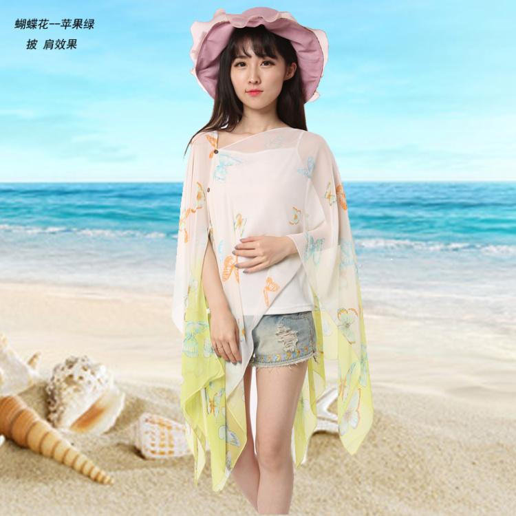 【夏季海边防晒丝巾披纱比基尼罩衫】-配饰-配饰