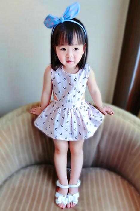 女小童 宝宝 纯棉公主背心连衣裙