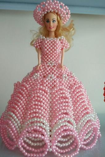 创意手工串珠芭比娃娃 创意