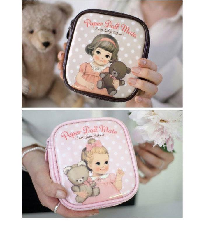 umi韩国可爱娃娃大容量化妆包