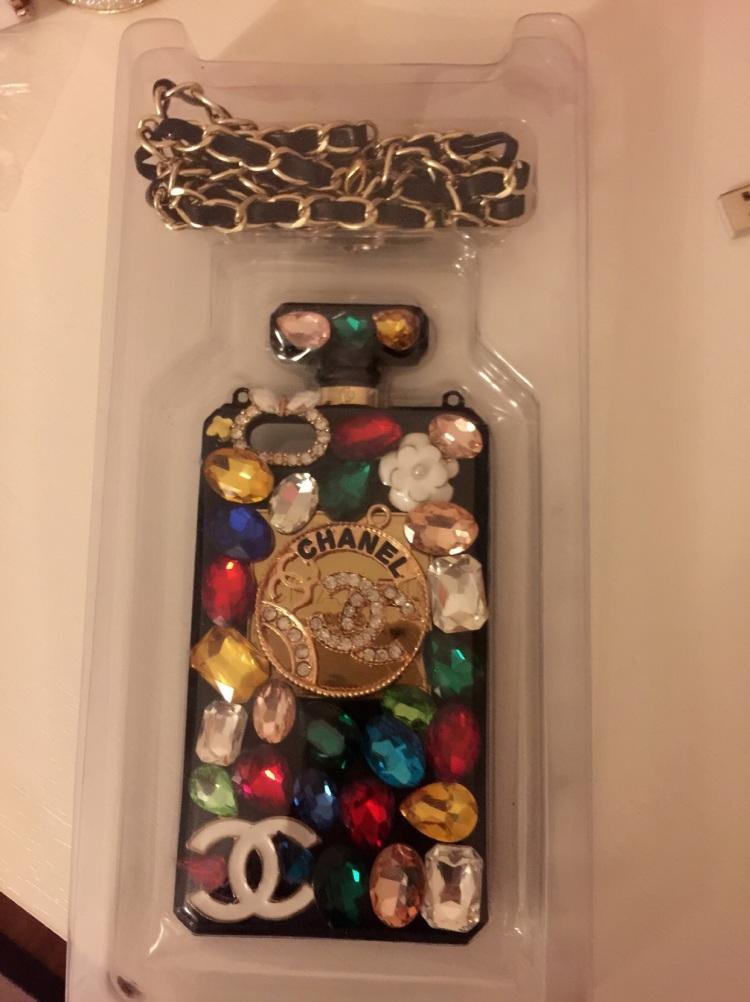 我的闲置#苹果5/5s手机壳 blingbling满钻彩钻,带链条
