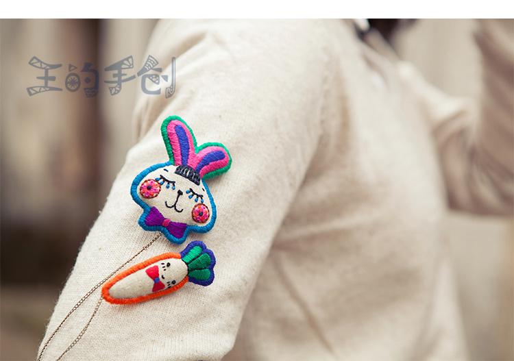 手工刺绣 是否多层:否 是否镶嵌:未镶嵌 形状/图案:小熊/小猪/小动物