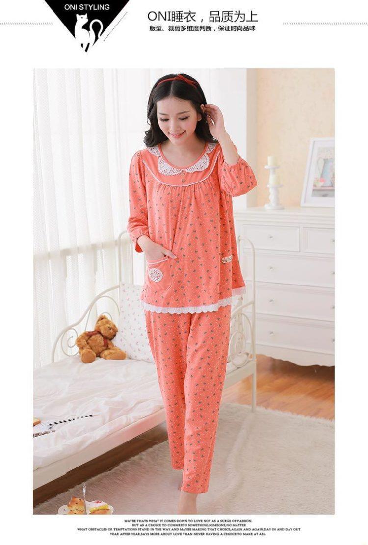 韩国初秋可爱甜美睡衣套装