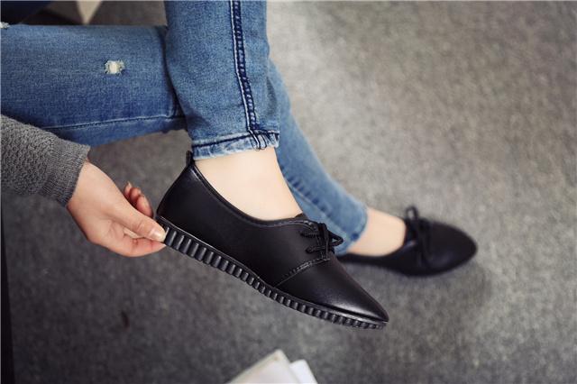 【奴比丹】欧美范蛇皮纹尖头时尚单鞋