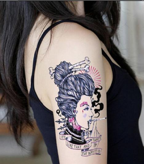 0抽烟纹身欧美范头像(9)