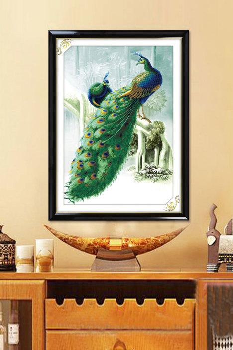 孔雀图,客厅系列