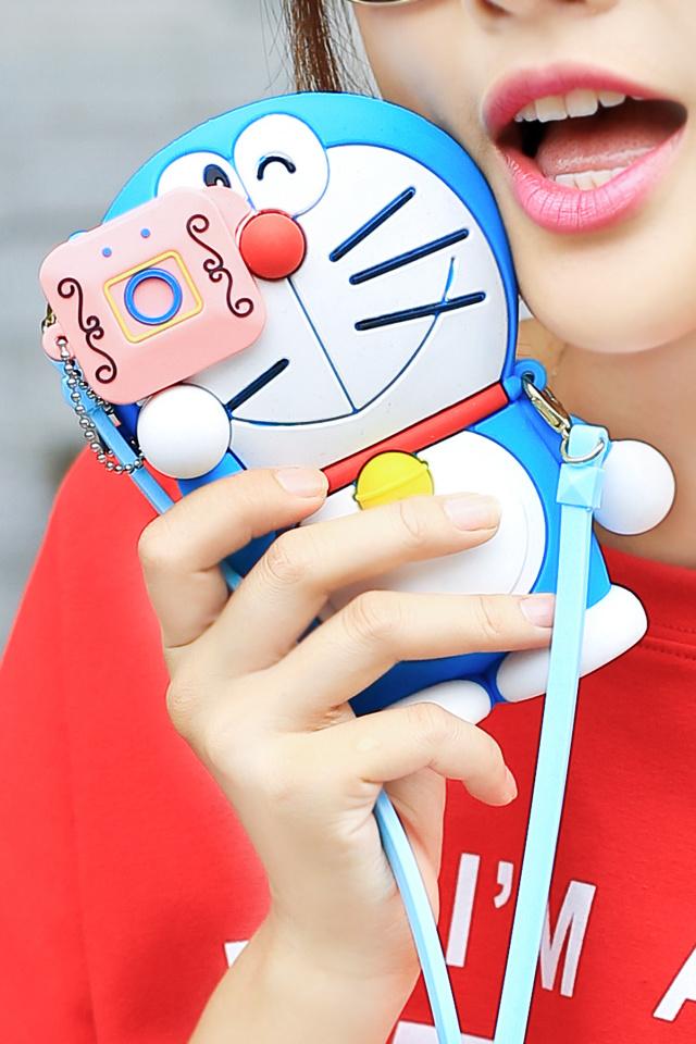 她的熊哆啦a梦蓝胖子可爱硅胶苹果6手机壳