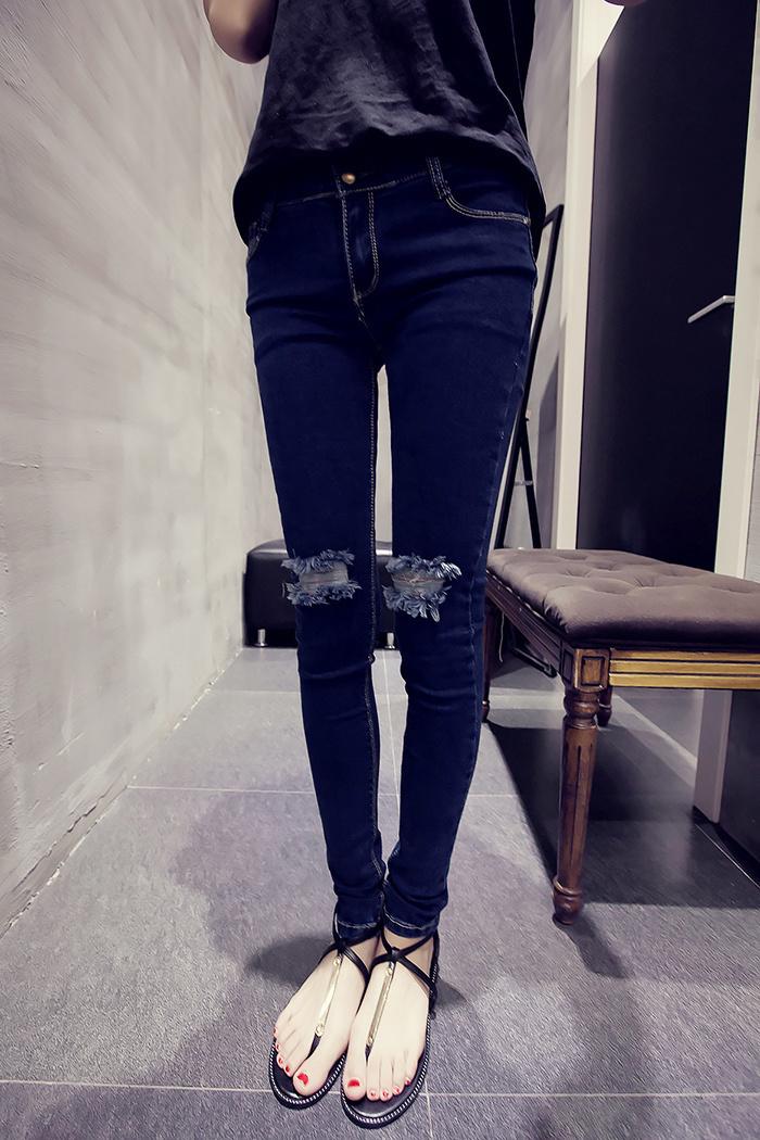 qq头像女生腿部牛仔裤