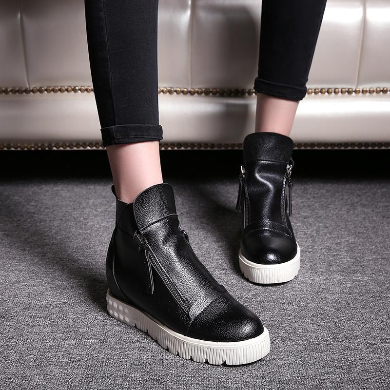 【《洛丽塔》英伦学院风厚底短靴】-鞋子-靴子_女鞋