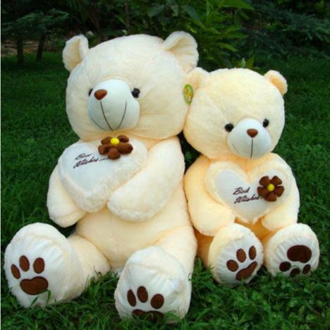 【毛绒玩具可爱抱抱熊抱心熊大熊猫公仔娃娃】-摆件