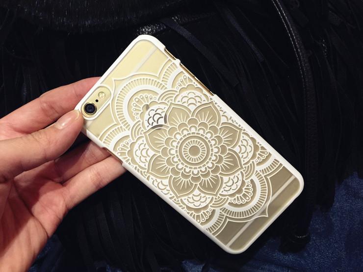 【曼陀罗花纹iphone磨砂硬壳】-配饰-手机配件