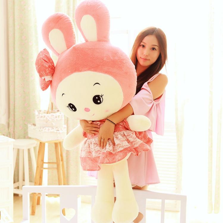 【可爱公主兔公仔粉色兔子毛绒玩具】-母婴-母婴毛绒