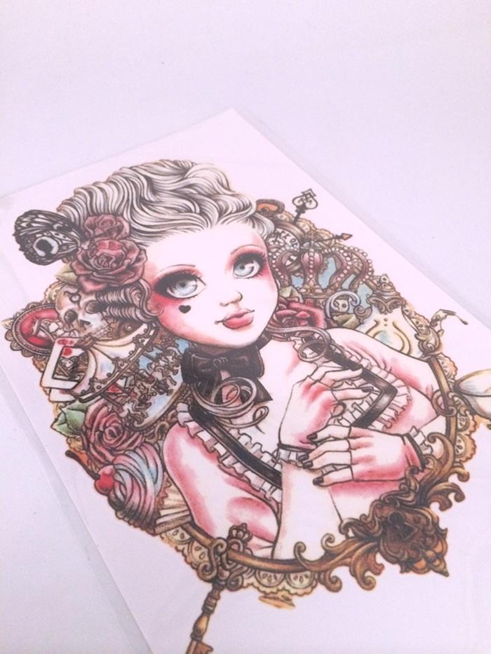 【可爱芭比大眼娃娃大花臂纹身贴】-配饰-配饰