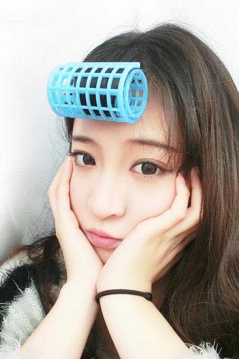 空气刘海内扣塑料卷发器
