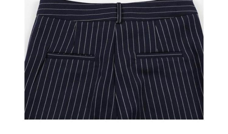 韩国竖条纹西装两件套