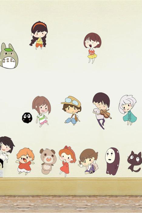 【【简一】卡通日本动漫人物墙贴画】-家居-贴饰