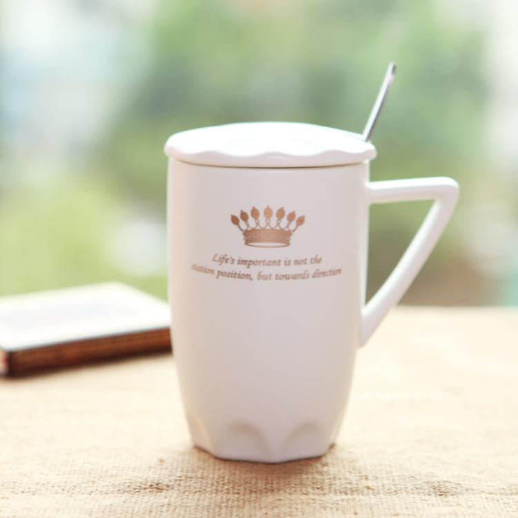 【【半刻钟陶瓷杯】欧式黑白王子公主情侣马克杯
