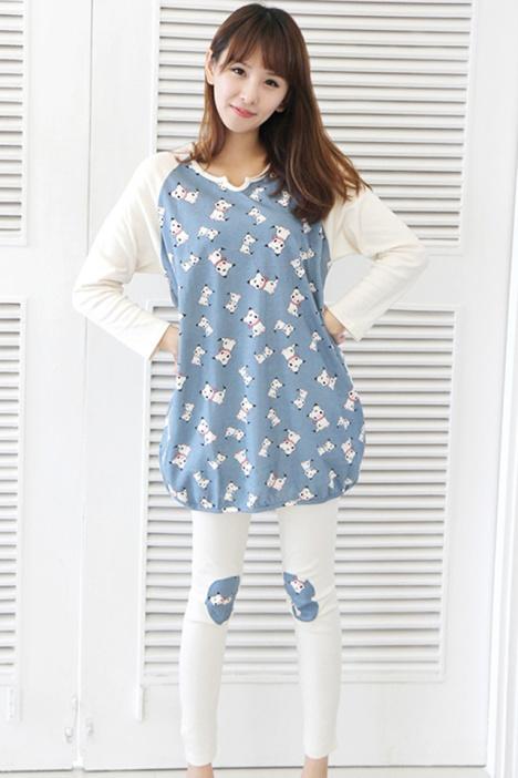 【炒鸡热卖】韩国初秋可爱猫睡衣