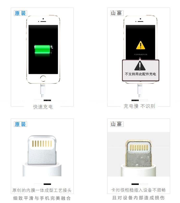 【苹果6原装数据线正品iphone6充电器苹果5s数据线头