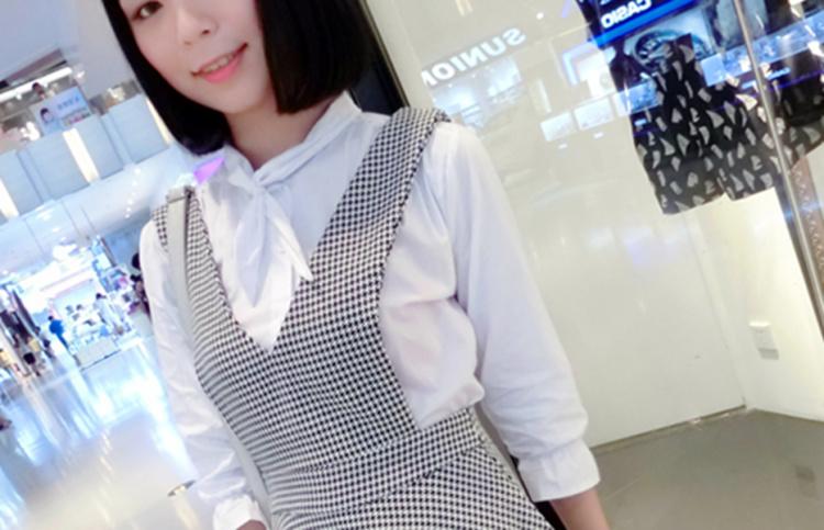 新款背心连衣裙 领结衬衫 套装