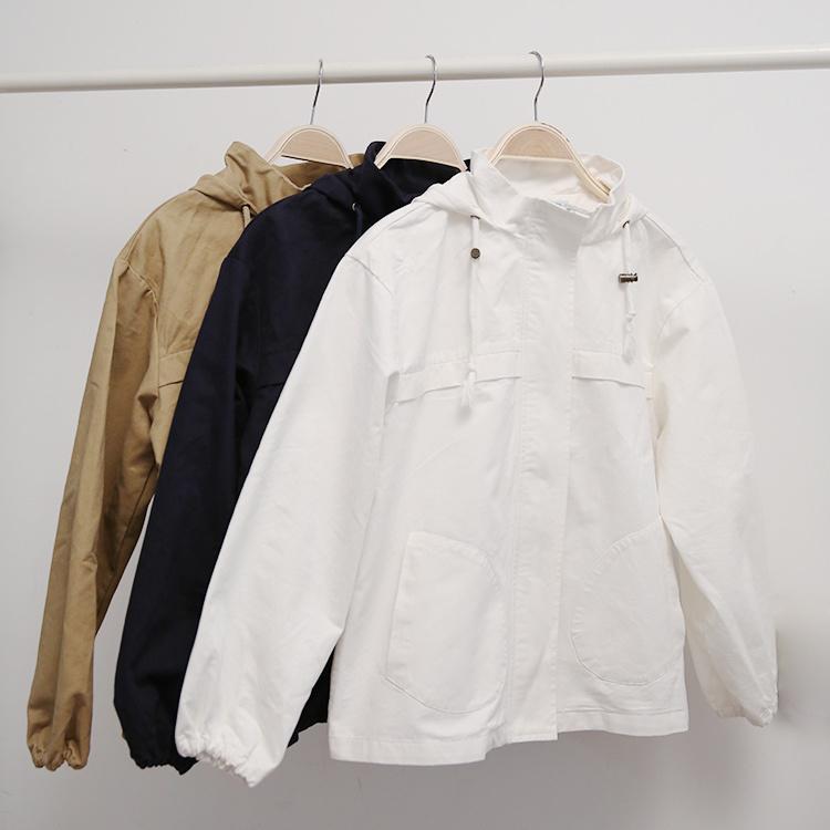 【秋季工装连帽风衣】-衣服-风衣
