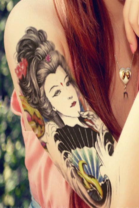 纹身 欧式 花臂女