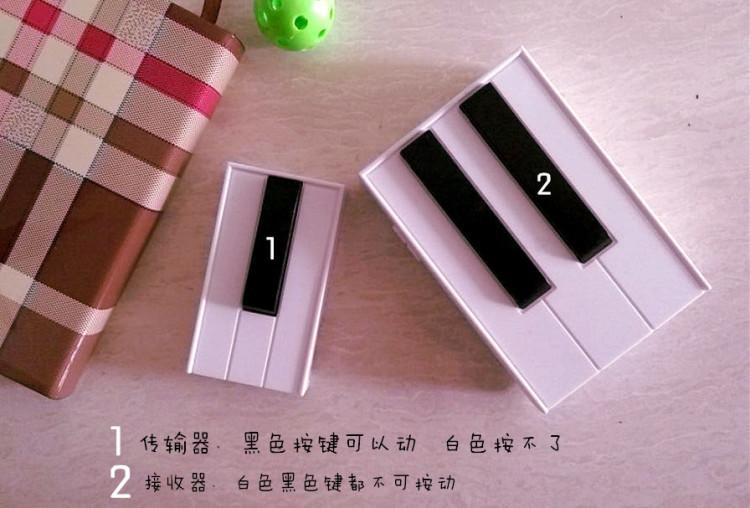 家用钢琴门铃 一拖二无线按铃 套装别墅楼房室内创意智能呼叫器