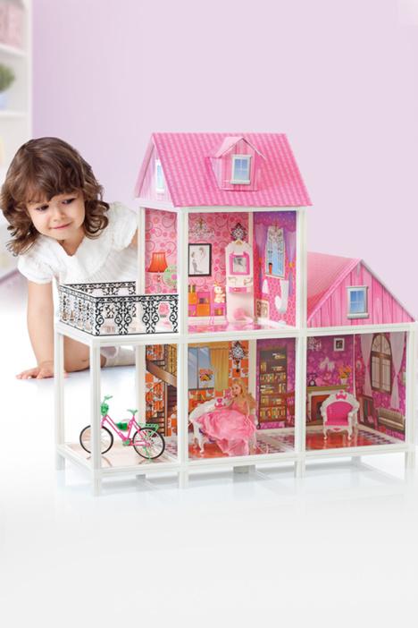 貝婷娜豪華別墅芭比娃娃套裝公主玩具屋女孩過家家兒童超大禮盒