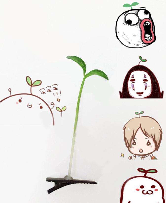 【20只装】卖萌神器小豆芽花草发夹