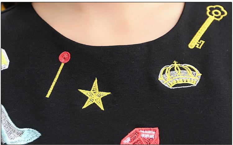 五角星的绣花步骤图案