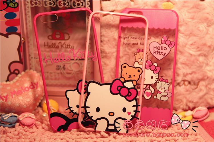 凯蒂猫iphone6/6plus手机壳可爱卡通外壳苹果保护套