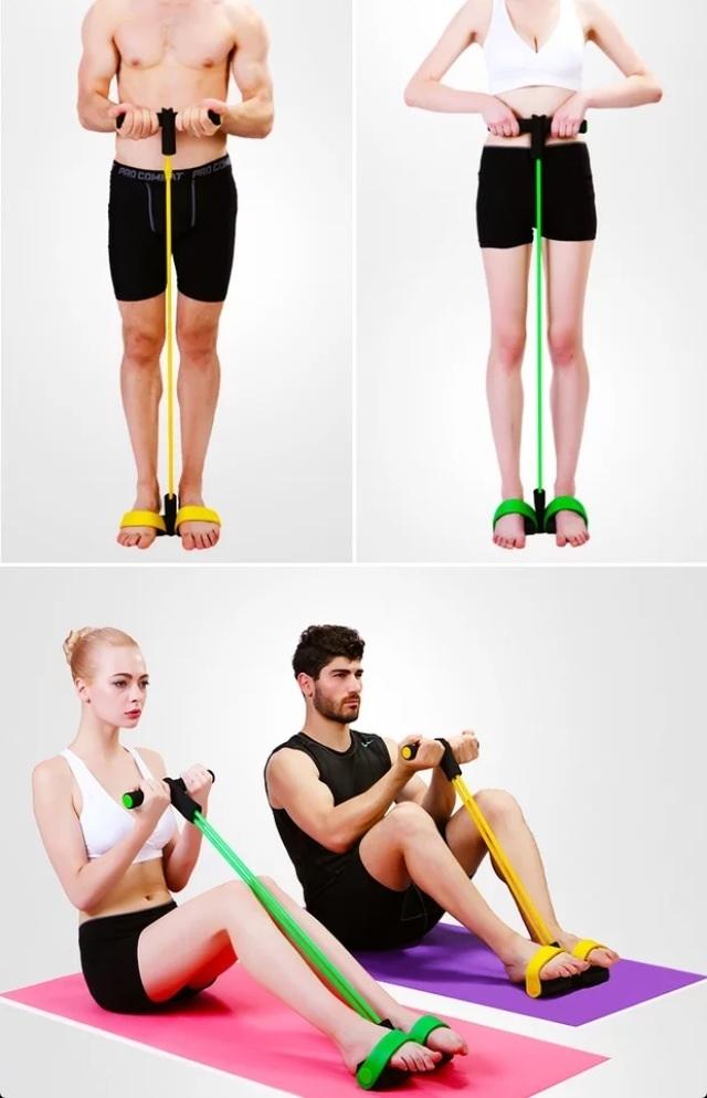 【仰卧起坐器材健身家用运动拉力器】-null-百货