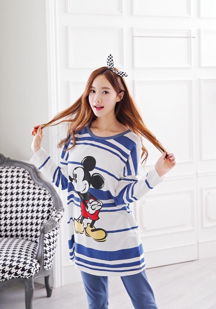 2015初秋新款韩版可爱睡衣套装