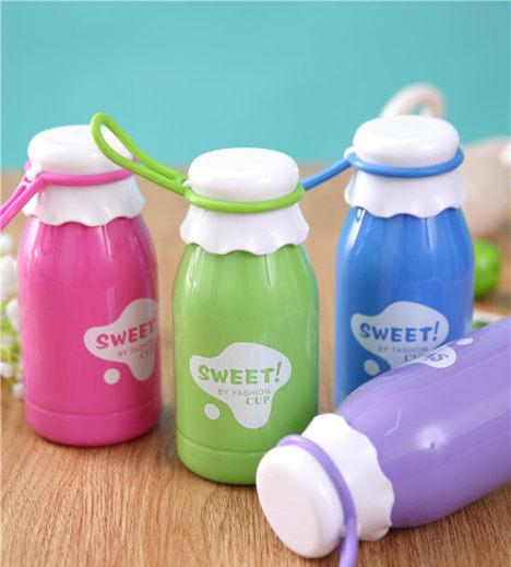 创意牛奶屋塑料杯sweet可爱儿童水杯运动杯子学生小容量杯子