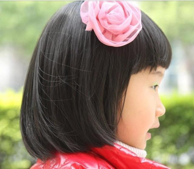 宝宝儿童假发女童假头套短发bobo头齐刘海摄影发可爱