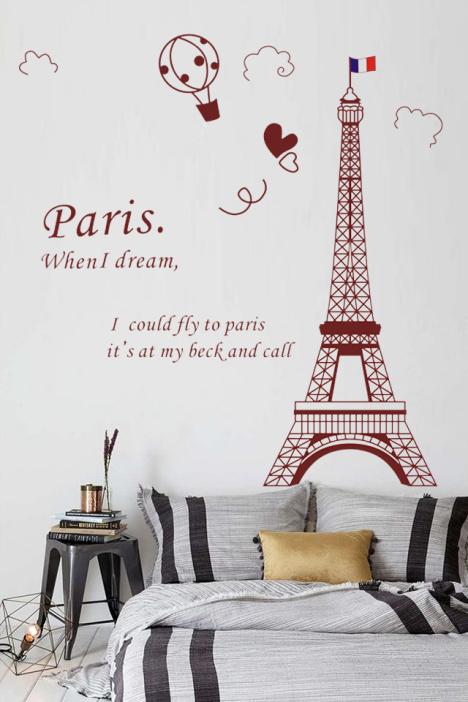 墙纸,环保,怡然之家,欧式,简约,抽象,埃菲尔铁塔,墙贴画,墙贴纸,背景