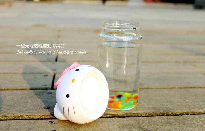 卡通可爱kitty猫头玻璃杯】-null-百货