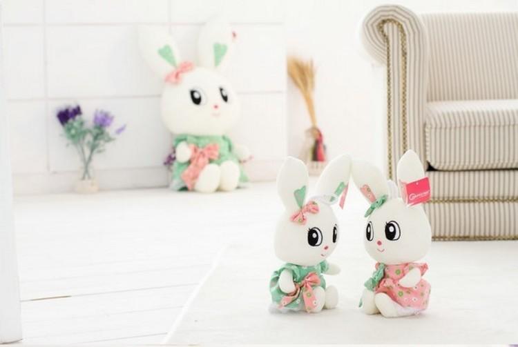 可爱小白兔子毛绒玩具公仔大号兔兔布娃娃抱枕生日礼物送女生