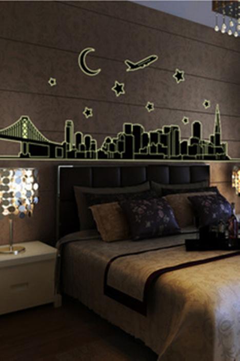 巴黎铁塔墙贴,夜光贴,荧光贴