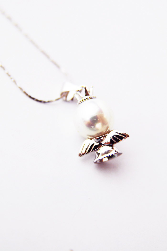 【925纯银可爱皇冠天使项链】-配饰-配饰