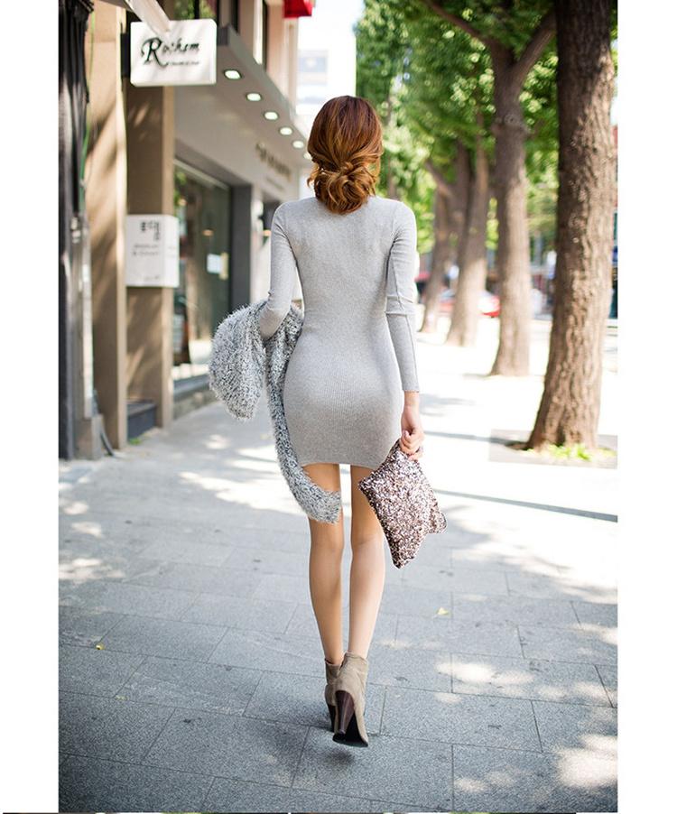 【韩版包臀针织连衣裙】-衣服-连衣裙_裙子_女装_服饰
