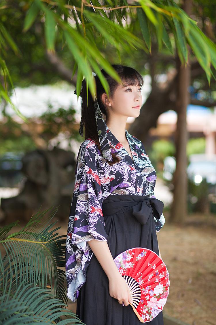 cosplay服矢羽柄/鲤鱼旗和风印花改良和服