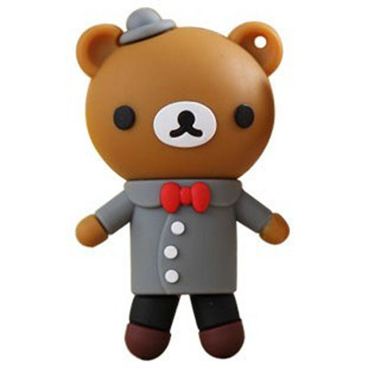 【创意卡通优盘32gb 轻松熊婚礼熊可爱礼服小熊