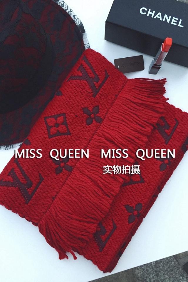 【lv红色羊毛围巾】-配饰-女士配饰