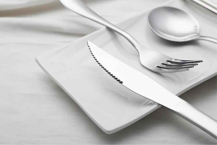 原始人 不锈钢 西餐刀叉勺筷子 餐具套装