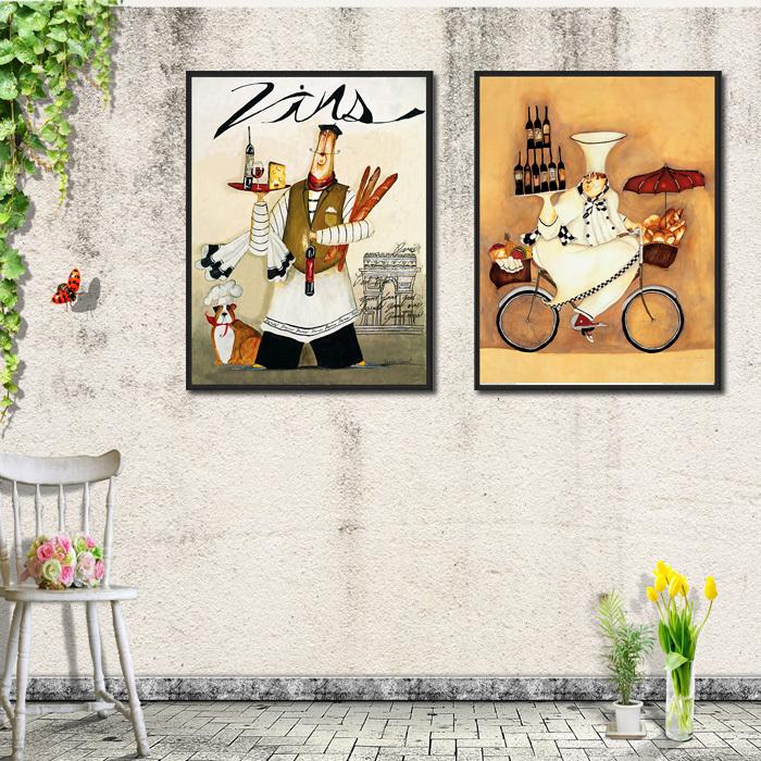 餐厅 客厅装饰画现代画 卧室墙画沙发背景墙挂画壁画有框画食物