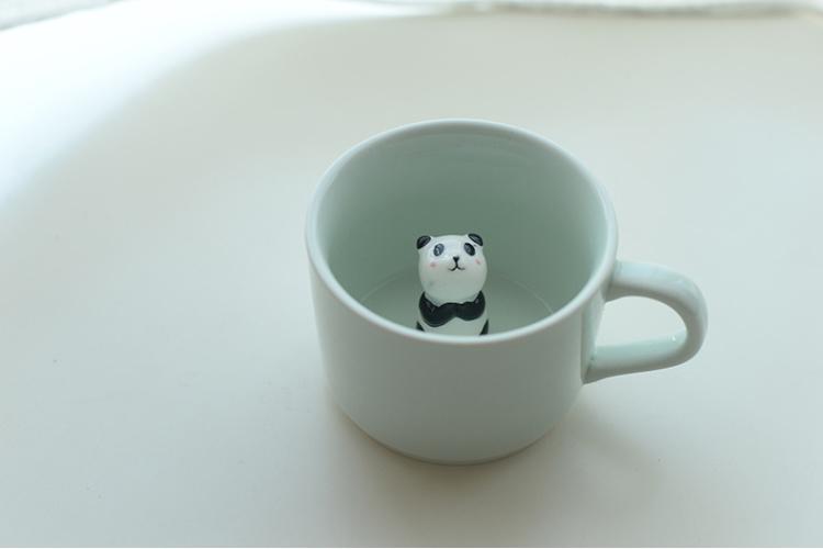 【杯底动物咖啡杯 立体陶瓷杯